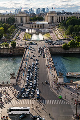 Paris June 2015 (4) 144 - Jardens Du Trocadero (Mark Schofield @ JB Schofield) Tags: city panorama paris france tower seine architecture buildings river french champselysees cityscape arch tour steel arc eiffel champdemars trocadero