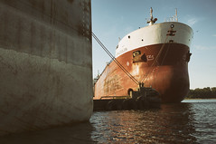 (William Self) Tags: morning summer toronto ontario sunrise ships freighter shipchannel portlands 2015 sonynex6