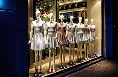 Parisian girls (Tigra K) Tags: 2012 france paris city color dress light night rhythm store window манекен îledefrance fr