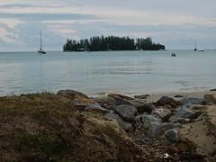 Beach Side Langkawi (jas.mann-real life photos-no photoshopping) Tags: trees water boats olympus malaysia rowing langkawi paddling e410