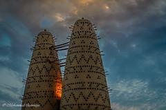 Katara 2 of 5 (Mohammed Qamheya) Tags: doha qatar kataraculturalvillage nikon d7000 d7k nikon50mmf14g 50mm f4 1125 iso100 aperturepriority sky cloud sunset twins