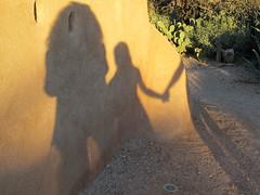 adobe shadows (Catzz1) Tags: arizona tucson silhouettes adobe wall people