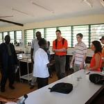 Univ. of Illinois delegation visits the Health Sciences building at Njala University, Bo, Sierra Leone