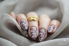Carimbada com BP-L043 (Walquiria R.P.) Tags: bornpretty stampingnailart stamper unhas polish esmalte nail art photography prego