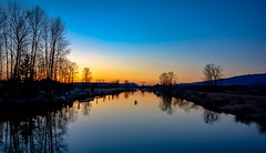 Alone with your thoughts (Christie : Colour & Light Collection) Tags: alouetteriver sunset bc canada peaceful serene romantic blueandorange