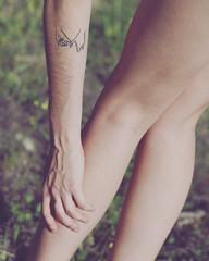 ❤👐🌸 @anasanz_ilustratattoo 💔 (~Muna Enrollada) Tags: instagramapp squareformat iphoneography tattoo pretty girl sun promise nature love