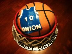 Basketball Cake by Cristy, RDU, NC, www.birthdaycakes4free.com