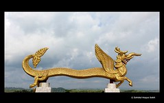 Dragon cross bar at the Golden Temple (Sabit BD) Tags: bangladesh bandarban goldentemple sabitbd