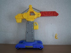 Redbox Toy Crane (ItalianToys) Tags: people price toy toys little crane fisher gru giocattoli giocattolo