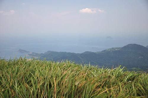 磺嘴山遠眺野柳、基隆嶼