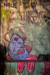 Your Ugly Face Off (Thomas Hawk) Tags: california usa america graffiti berkeley rat unitedstates unitedstatesofamerica eastbay specialdelivery nart flintink endlesscanvas carbonwarehouse specialdelivery2012