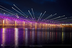 Banpo Bridge Purple (MarkDeibertPhotography) Tags: water fountain night lights zoom korea seoul southkorea hanriver banpobridge