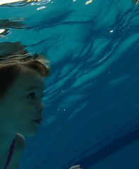 OLYMPUS DIGITAL CAMERA (drjeeeol) Tags: water pool swim katie under fav triplets toddlers lessons 2013 57monthsold