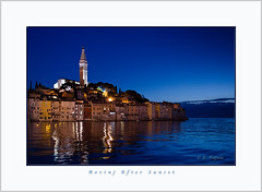 Rovinj After Sunset (Maclobster) Tags: blue sunset reflection church croatia rovinj adriatic keithgrajala