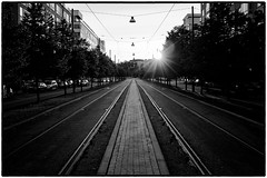 DSCF2920 (Per Spektiv) Tags: sunset bw sweden stockholm cityscapes suburbs silverefexpro2