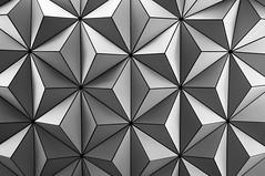^_^ (mac_prv) Tags: park blackandwhite bw lines triangles ball blackwhite epcot cool pattern ride florida disney theme spaceshipearth