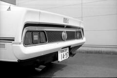 Mach 1 (Yoshikatsu Sato) Tags: blackandwhite bw ford film monochrome car japan 1971 mustang musclecar hiratsuka mach1