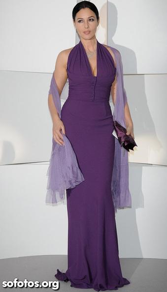 Vestido de festa longo roxo violeta