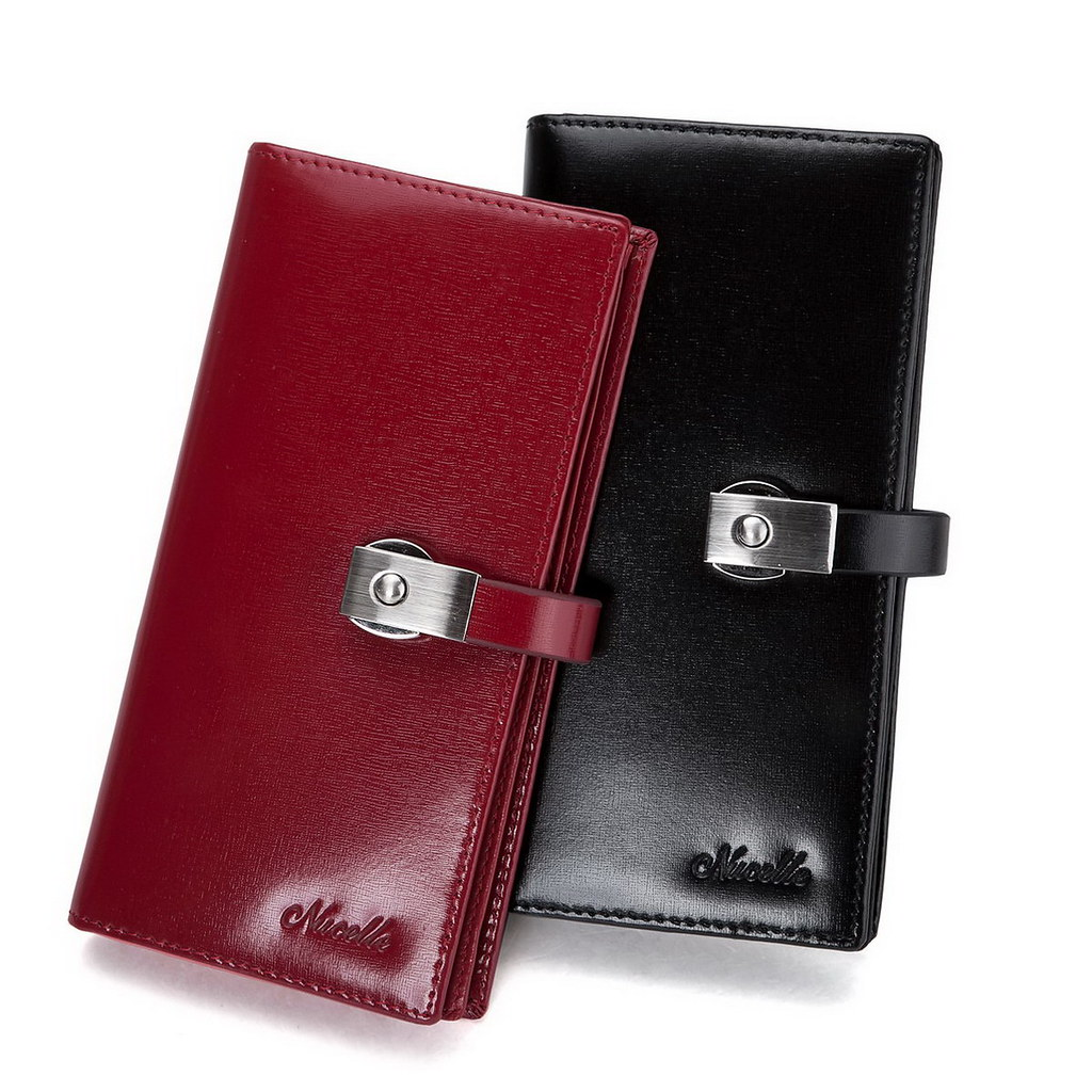 Red Ladies leather long wallet by xubangwen, on Flickr