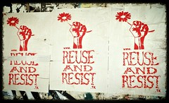 Reuse & Resist posters... (www.InspireCollective.com) Tags: show building art abandoned public project one exhibition east shows annual middle fourth inspire legacy collective resist reuse wwwreuseresisttk