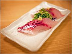 Last Meal in Osaka (David Panevin) Tags: food japan sushi japanese restaurant bokeh olympus  osaka kansai omd kitaku sushiya  em5 uoshin bokehlicious davidpanevin leicadgsummilux25mmf14asph oyogiaji