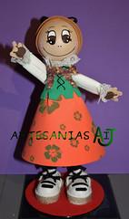 Fofucha BATURRA (Artesanias AIJ) Tags: recuerdo regalo artesania regionales manualidad baturra jotera gomaeva fofucha