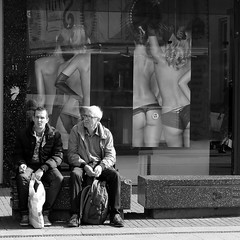 Taking a break (Frankhuizen Photography) Tags: street bw white black netherlands photography break candid taking zwart wit weert 2013