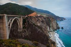 By the Sea (Lorin Warner) Tags: california bigsur cliffs pch highway1 californiacoast bixbybridge pacificcoasthighway bluesea