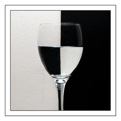 Black and White. (Yvette-) Tags: glass wineglass nikkorf28105mm nikond5100