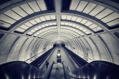 Metro (Pat Kelleher) Tags: bw white black architecture subway mono metro monotone form shape patk patkelleher patkelleherphotography patkphotography
