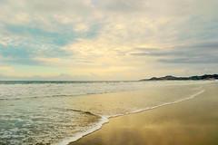 golden and blue (Ani Carrington) Tags: sunset sea sky beach water clouds mexico sand waves skies bajacalifornia baja bajacalifroniasur