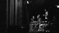 Spectators (firefly_0815) Tags: white black film concert mtl 5 delta spectators damaged 3200 ilford praktica
