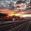 Sky on fire, train tracks to infinity. Late afternoon on the edge of the Winter Solstice. Tübingen, #Germany (uncorneredmarket) Tags: sunset germany traintracks tübingen instagram