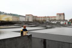 Travels of badger - Berlin Holocaust Memorial (enigmabadger) Tags: christmas berlin germany deutschland lego fig nuremberg weihnachtsmarkt case accessories minifig custom nürnberg accessory minifigure christkindlemarkt brickarms