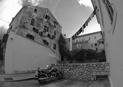 Bike & laundry (aikido61) Tags: sunset monochrome vertical pentax silhouettes k5 k7 k10d pentaxk10d justpentax pentaxart