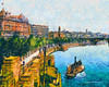 Digital Oil Painting of the Thames River in London (Charles W. Bailey, Jr., Digital Artist) Tags: england london art thames century photoshop river painting boat photo exposure dynamic skin 4 alien paddle manipulation snap oil steamer 19th topaz adjust restyle autopainter