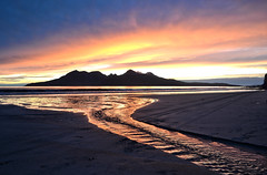Red clouds over Rum, Isle of Eigg  Greg Carr