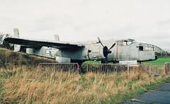 609 Mitchell, North Weald 24-11-02e (Proplinerman) Tags: 2002 aircraft mitchell bomber warbird b25 northamerican northweald