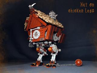 Hut on chicken legs in battle position