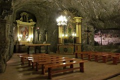 underground chapel    (2 photos) (green_lover (I wait for your COMMENTS!)) Tags: chapel saltmine bochnia poland history unesco altar underground benches