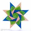 Modular Origami Star (Maria Sinayskaya) Tags: origami folded a4 10010 modularorigami origamistar silverrectangle mariasinayskaya мариясинайская rectangle1sqrt2 kamipaperduocolorcolor 15cmdoublesided daiyoshiko