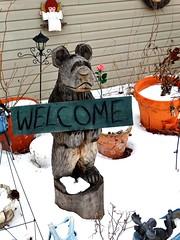 Bear (e r j k . a m e r j k a) Tags: bear signs lawn brooke westvirginia figure welcome whimsical wellsburg erjkprunczyk