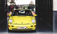 Lemon Yellow Porsche (GL photographie) Tags: yellow lemon nikon 911 sigma event german porsche 70200 f28 carrera 964 magnycours d700 911club