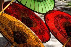 paper umbrellas (hjuengst) Tags: light sun color art umbrella paper licht colorful asia asien burma kunst bamboo sunshade parasol myanmar papier sonne birma handcraft bagan handwerk bambus regenschirm schirm sonnenschirm redrossorougerood vision:outdoor=0525