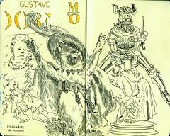 Orsay - Expo Gustave Dor (croquisdenico) Tags: moleskine sketch drawing sketchbook dessin exposition orsay moleskin gustave croquis dor chatbott