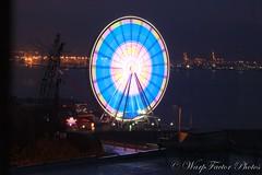 Seattle Sites (WarpFactorEnterprises) Tags: seattle wheel washington key long exposure space trains ferris arena needle