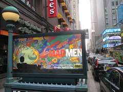 mad men in the day 6819 (Brechtbug) Tags: street new york city nyc men film station television by movie season advertising poster logo tv jon artist near ad 7 cable mini billboard advertisement final seven don 1960s milton mad amc 50th avenue 7th 34th channel hamm draper 2014 glasier 03222014