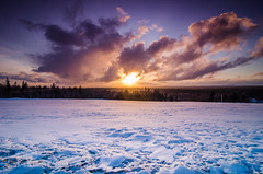 Calm Before the Storm (f_one_eight) Tags: sunset red snow cold beautiful landscape nikon maine wideangle tokina lee filters stacked d7000 1116mm28 06gndsoft 09gndsoft