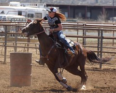 Dewey Barrel Race (Garagewerks) Tags: arizona horse woman sport female race all sony country barrel arena rodeo dewey cowgirl athlete equine 50500mm views50 views100 views150 f4563 slta77v