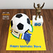 """Football cake with Leeds United scarf and Billy Bremner statue by Mandalina Bakery • <a style=""""font-size:0.8em;"""" href=""""https://www.flickr.com/photos/68052606@N00/13743625524/"""" target=""""_blank"""">View on Flickr</a>"""